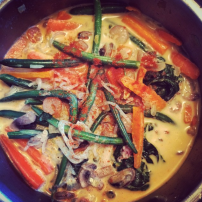 Thai curry with Shiritaki noodles