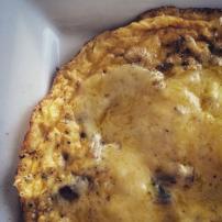 Super cheesy mushroom omelette