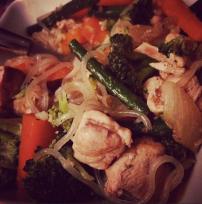 Thai chicken with shiritaki noodles