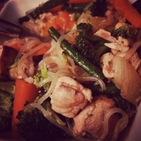 Thai chicken with shiritaki noodles
